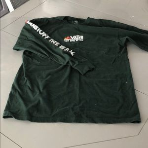 Dark green long sleeve vans T-shirt